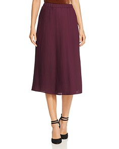 Eileen Fisher Petites - Recycled Polyester Pleated Midi Skirt