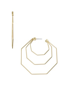 Rebecca Minkoff - Triple Hexagonal Drop Earrings