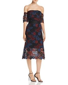 Sam Edelman - Off-the-Shoulder Lace Illusion Dress