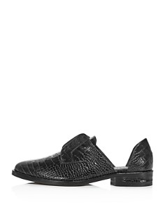 "Freda Salvador - Women's ""Wear Laceless d'Orsay"" Croc-Embossed Leather Oxfords"