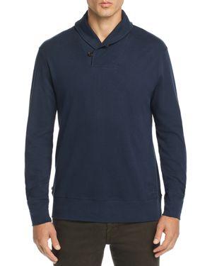 OOBE Tradd Shawl-Collar Pullover Sweater in True Navy