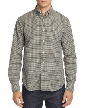 OOBE Cypress Gingham Regular Fit Button-Down Shirt in Green/Black