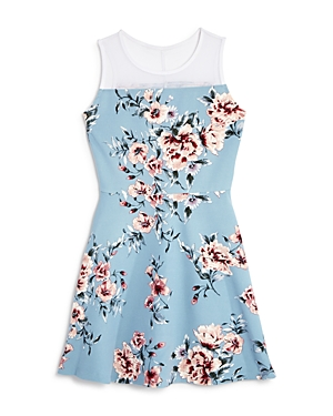 Aqua Girls' Embroidered Mesh Dress, Big Kid - 100% Exclusive
