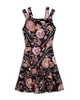 Miss Behave - Girls' Nancy Split-Strap Embroidered Dress - Big Kid