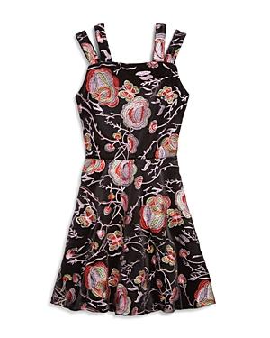 Miss Behave Girls' Nancy Split-Strap Embroidered Dress - Big Kid