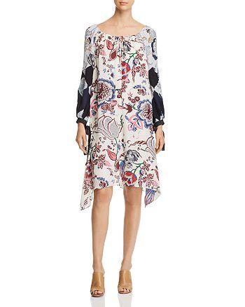 ff1a814c494b Tory Burch - Happy Times Silk Floral-Print Dress