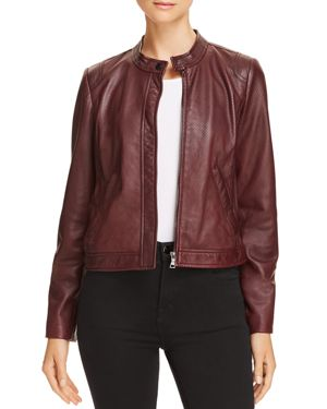 PERFORATED LEATHER JACKET - 100% EXCLUSIVE