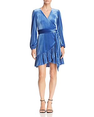Rebecca Minkoff Karis Ruffled Velvet Wrap Dress