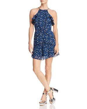 KARINA GRIMALDI Angelina Ruffled Floral-Print Mini Dress in Mood Floral