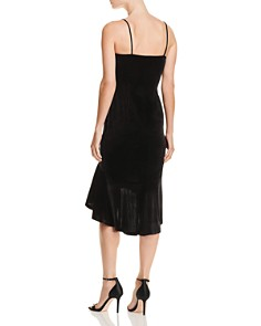AQUA - Ruffle-Hem Velvet Midi Dress - 100% Exclusive