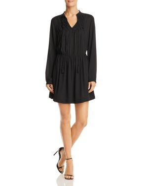 AQUA ORIGAMI SMOCKED DRESS - 100% EXCLUSIVE