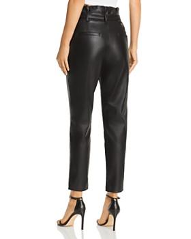 Lucy Paris - Faux Leather Paperbag-Waist Pants
