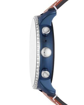 Fossil - Q Explorist HR Blue-Accented Touchscreen Smartwatch, 45mm