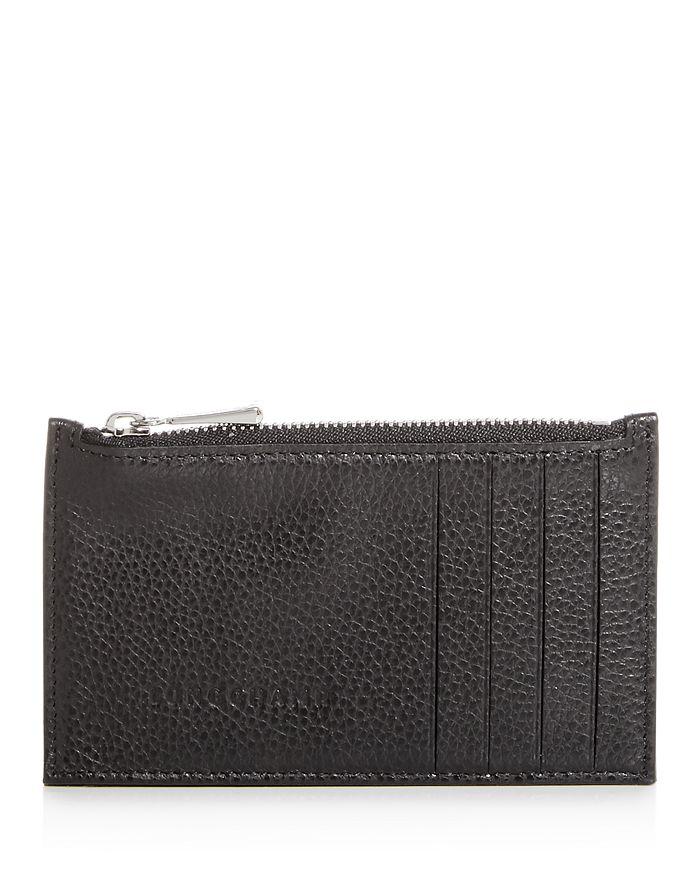 Longchamp - Le Foulonné Leather Zip Card Case
