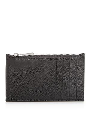 Longchamp Le Foulonne Leather Zip Card Case