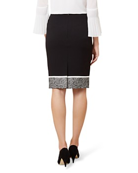 HOBBS LONDON - Robyn Tweed-Hem Pencil Skirt