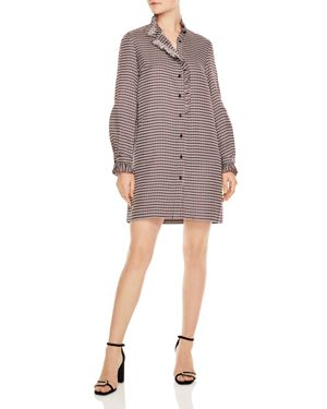 Country Club Music Checked Shirt Dress, Multi/ Color