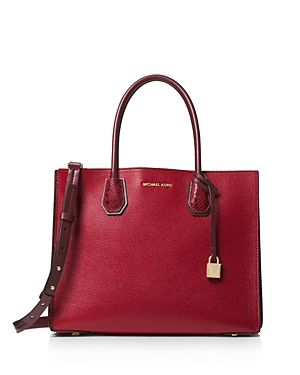 Michael Michael Kors Mercer Large Contrast Leather Tote
