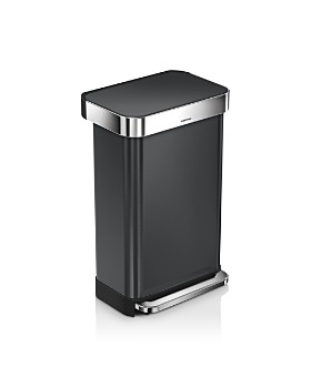 simplehuman - 45-Liter Rectangular Step Trash Can with Liner Pocket