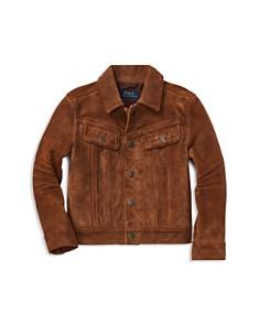 Ralph Lauren - Boys' Suede Trucker Jacket - Little Kid