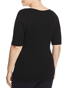 Alison Andrews Plus - Ring Cutout Knit Top