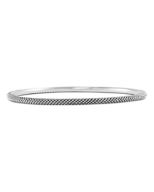 Lagos Sterling Silver Signature Caviar Bangle Bracelet