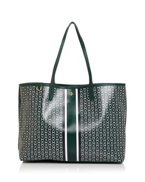 Gemini Link Coated Canvas Tote - Green, Norwood Green/Gold