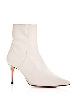 SCHUTZ - Women's Bette Leather Pointed Toe Booties