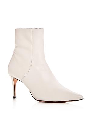 Schutz Women's Bette Leather Pointed Toe Booties
