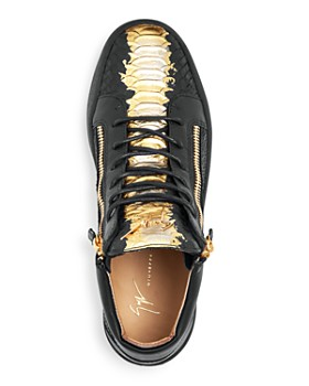Giuseppe Zanotti - Men's Painted Croc-Embossed Leather Mid Top Sneakers
