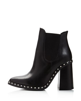 Charles David - Women's Scandal Pointed Toe Studded Leather Booties