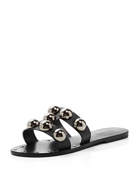SCHUTZ - Women's Benedita Open Toe Studded Leather Sandals