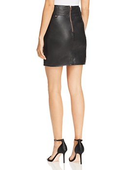 Hudson - High Rise Leather Mini Skirt