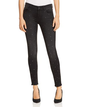 Emma Low-Rise Skinny Ankle Jeans With Rhinestones, Kershaw