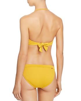 Red Carter - Cali Chic Textured Bandeau Bikini Top & Cali Chic Textured Bikini Bottom