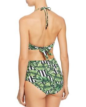 Red Carter - Havana Leaf Plunge Bandeau Bikini Top & Havana Leaf High-Waist Bikini Bottom - 100% Exclusive