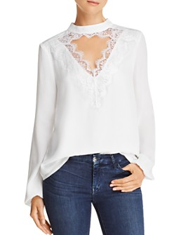 WAYF - Lace-Trim Cutout Top - 100% Exclusive