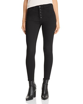 Just Black Denim - High-Rise Cropped Skinny Jeans in Black