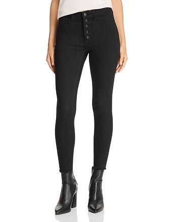 Just Black Denim - High-Rise Cropped Skinny Jeans in Black