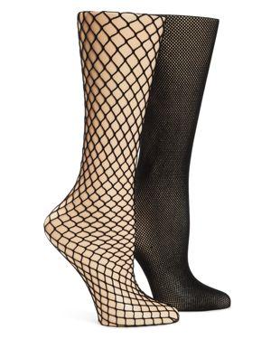 CALVIN KLEIN HOSIERY Hosiery Fishnet Tights, Set Of 2 in Black