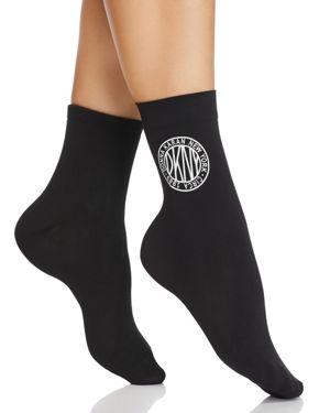 DONNA KARAN HOSIERY Token Logo Anklet - Multipack in Black
