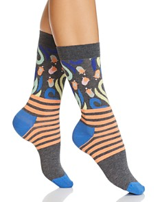 Happy Socks Flower Stripe Socks - Bloomingdale's_0