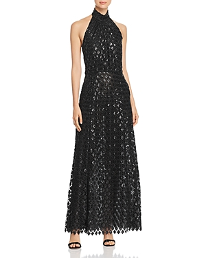Emporio Armani Sequined Halter Gown