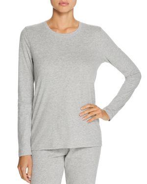 NATURAL SKIN Jael Long-Sleeve Organic Cotton Top in Heather Gray