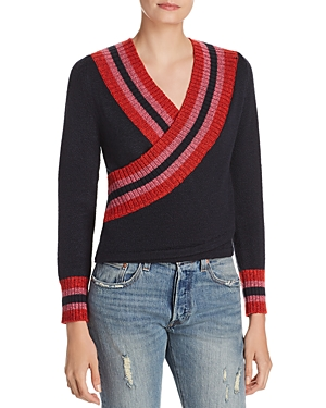 C/meo Collective C/MEO COLLECTIVE FAUX-WRAP SWEATER