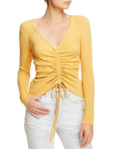 Sadie & Sage - Ruched Long-Sleeve Top