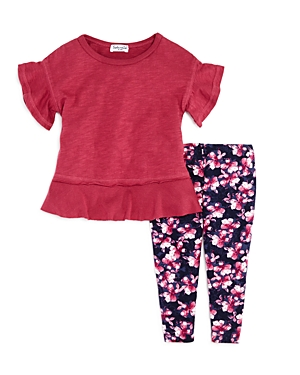 Splendid Girls' Ruffled Tee & Floral Leggings Set - Baby