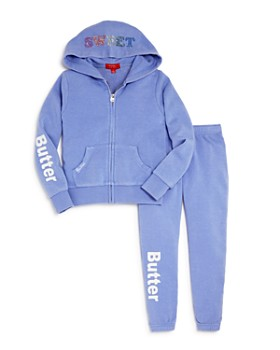 Butter - Girls' Embellished Gumball Fleece Hoodie & Sweatpants - Little Kid