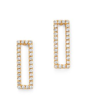 Bloomingdale's Diamond Rectangle Drop Earrings in 14K Yellow Gold, 0.20 ct. t.w. - 100% Exclusive