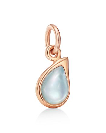 Dodo - Mother-Of-Pearl & Recycled Glass Doublet Teardrop Charm